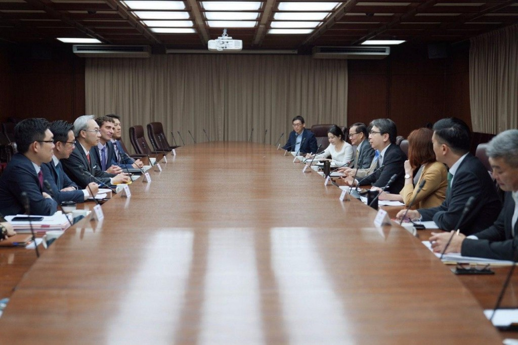 NSC's telephone meeting with US Deputy Assistant Secretary Alex Wong on May 19. (MOFA photo)