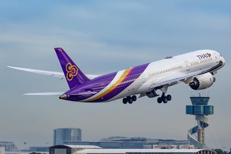 Thai Airways aircraft takes off (Thai Airways Facebook photo)