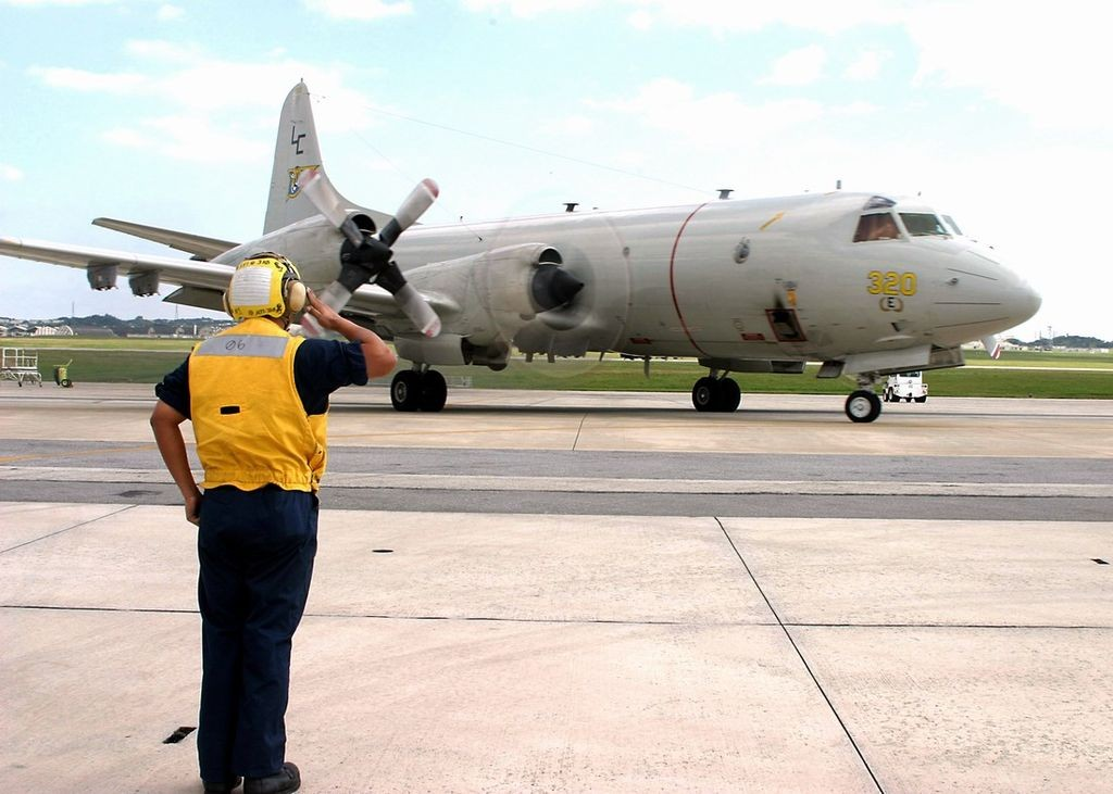 A P-3C anti-submarine aircraft in Okinawa (wikicommons photo by Alaniaris)