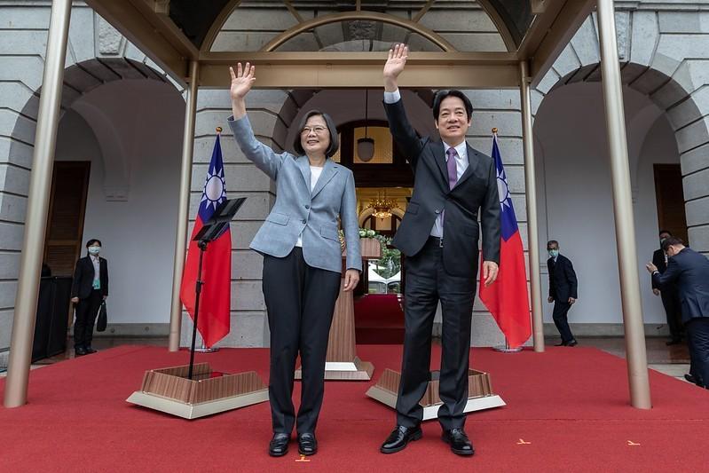 Taiwanese President Tsai Ing-wen (left) and Vice President William Lai (right) (Presidential Office photo)