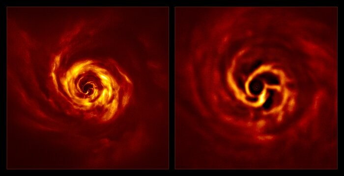 歐洲南天天文台首次拍到行星最初誕生跡象 巨大螺旋出現疑似「扭結」
