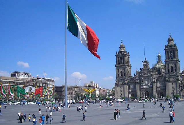 The Zócalo in Mexico City.