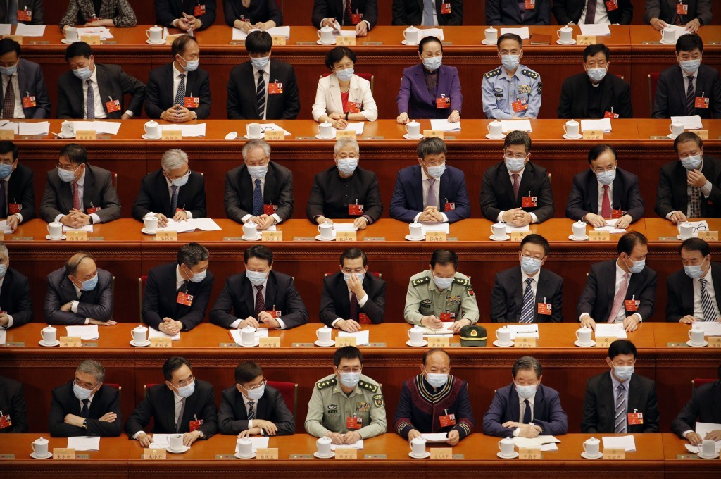 Video shows thousands of Chinese leaders wearing masks at CPPCC