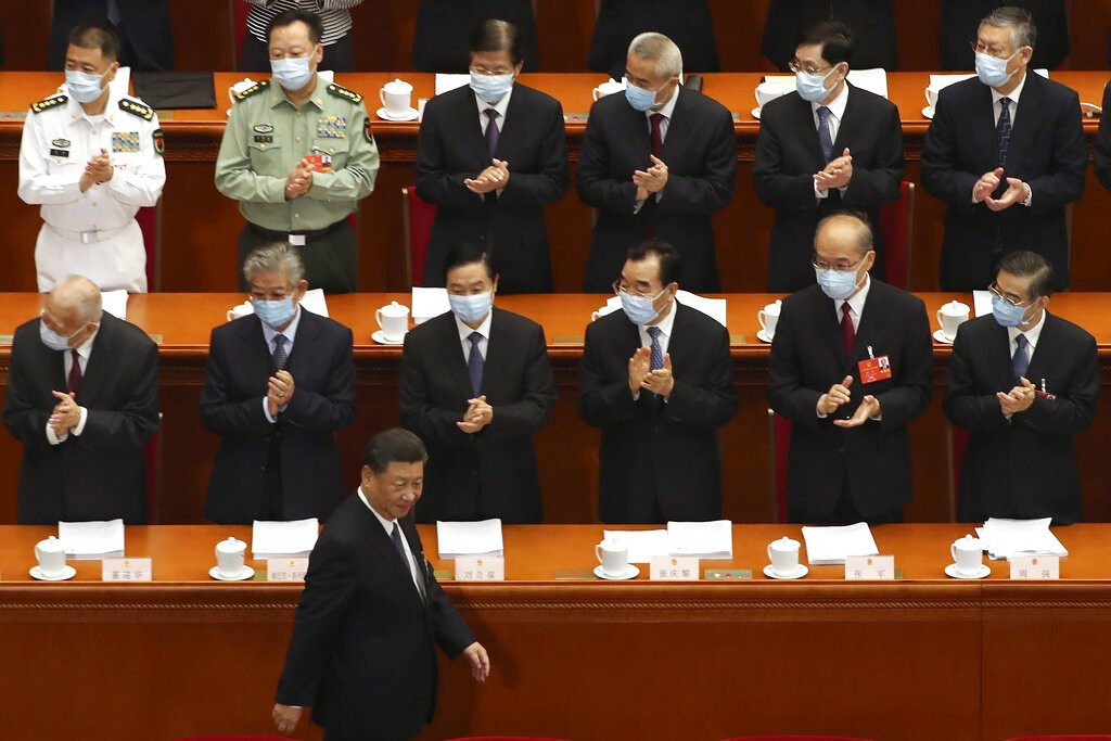 President Xi Jinping at the National People's Congress in Beijing