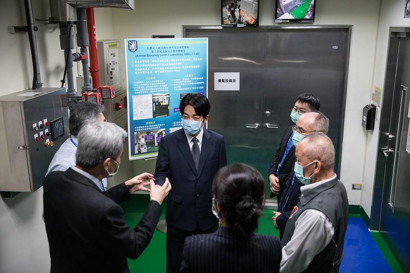 副總統賴清德22日視導國衛院(照片來源:總統府提供)