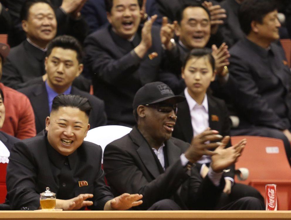 Dennis Rodman (right) with Kim Jong Un