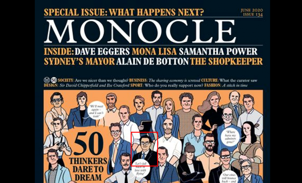 Wu one of 50 thinkers chosen by Monocle (Monocle photo)