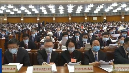 """Taiwan deputies"" at NPC. (Weibo photo)"