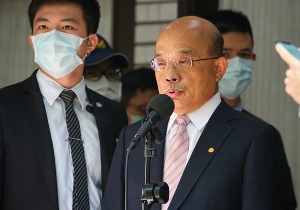 Premier Su Tseng-chang comments on Hong Kong situation.