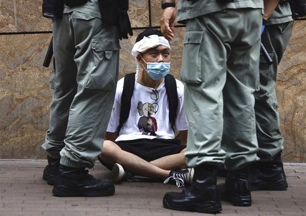 Hong Kong protest.