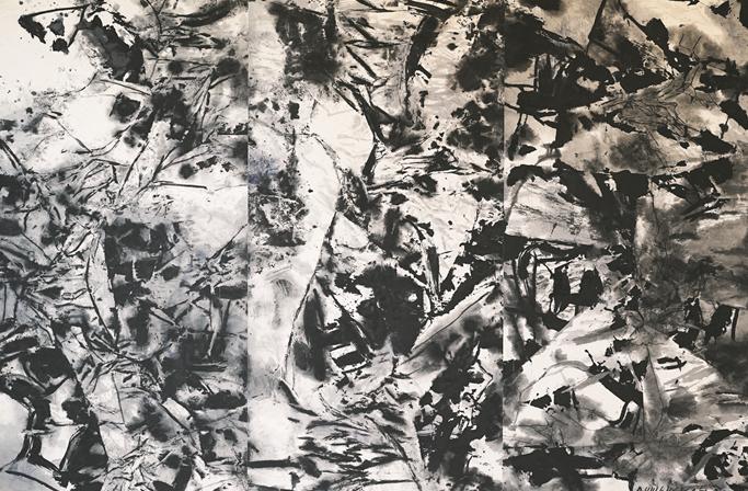 台灣抽象大師吳炫三狂野奔放遊非洲、南美洲 台灣聯展陰陽完美結合回歸自然