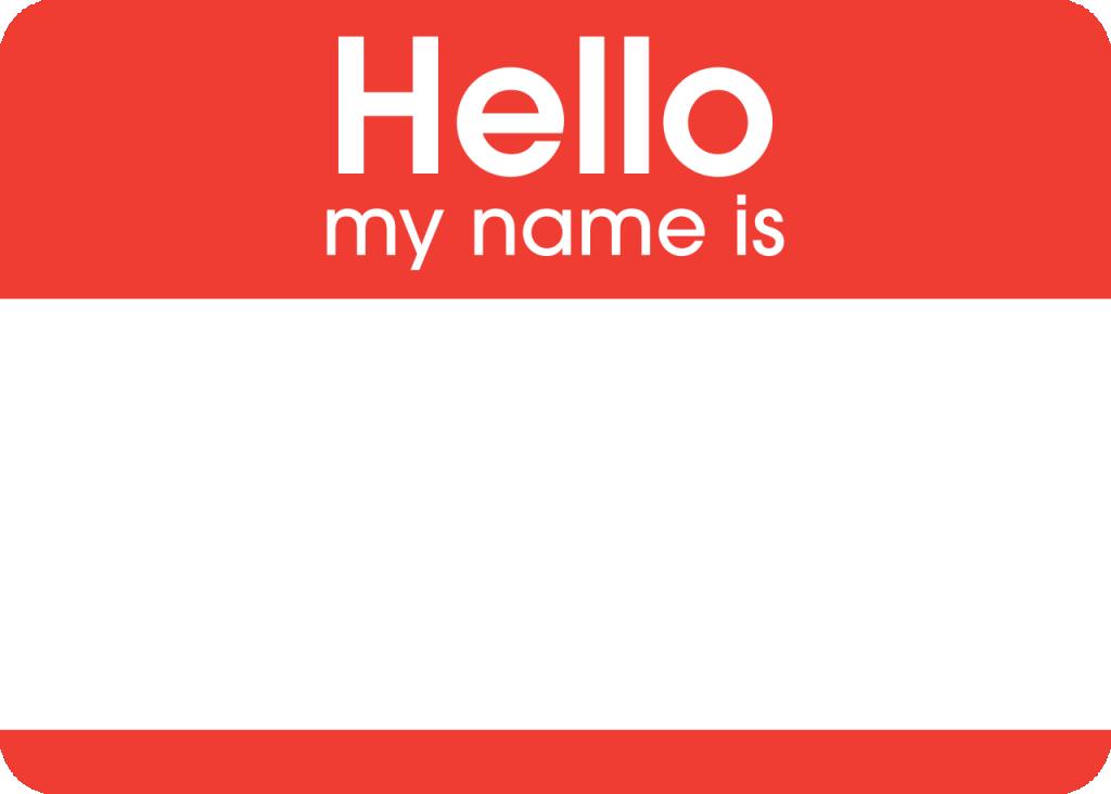 Name tag (Wikimedia Commons photo)