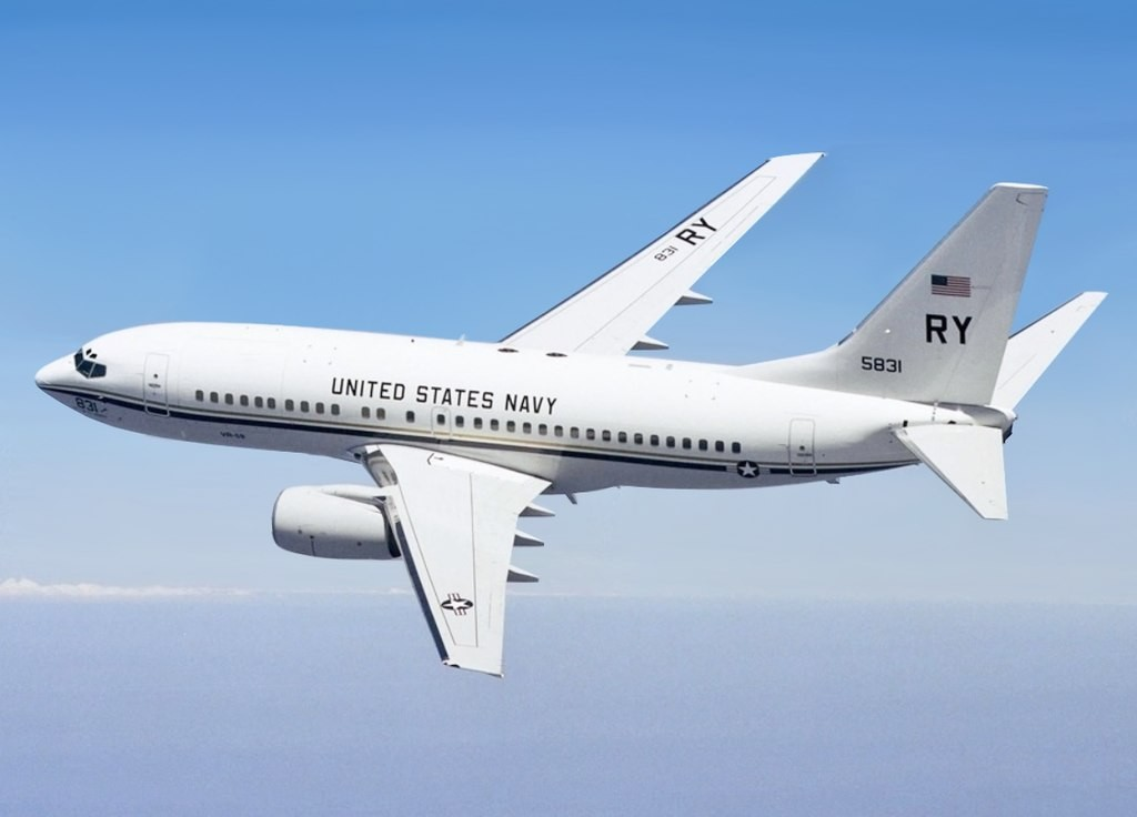 Update: US Navy C-40 reported flying directly over Taiwan