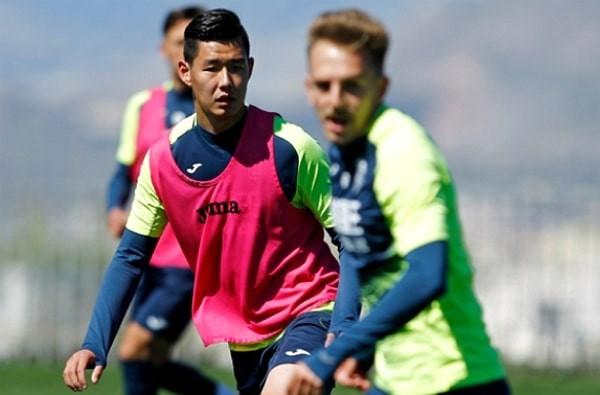 Chinese soccer playerHao Runze released by Serbian team due to political pressure. (Radnički Niš team photo)