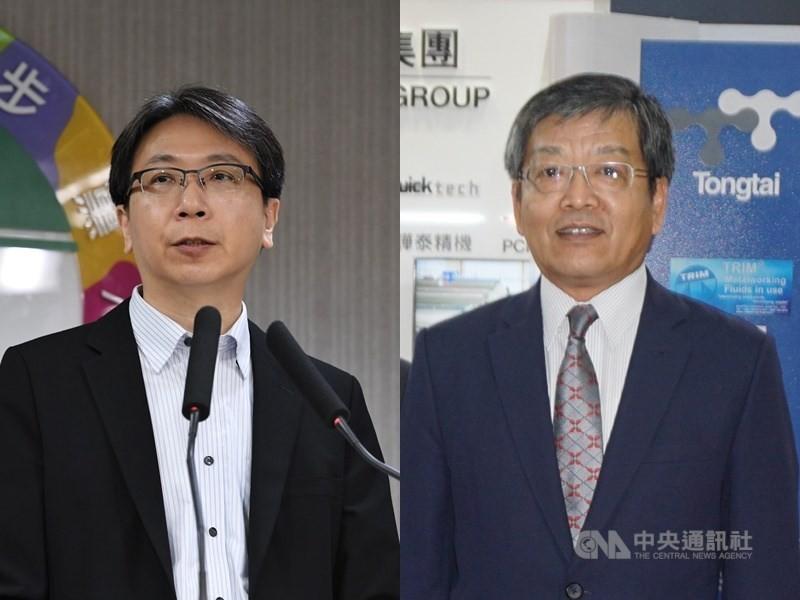 總統任命國安會副秘書長蔡明彥(左)出任駐歐盟代表、外交部政務次長謝武樵(右)擔任駐英國代表。(中央社檔案照片)
