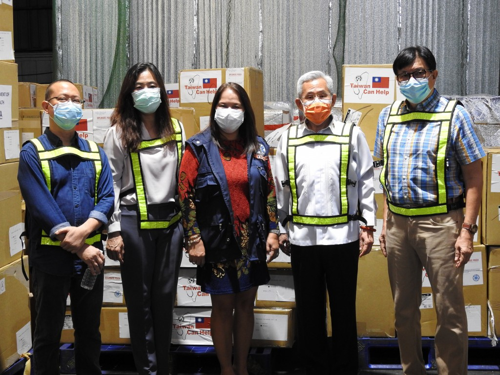 Taiwan PPE donations arrive in Philippines