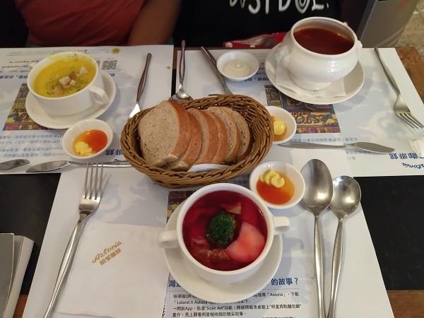 A bowl of borscht at the CaféAstoria in Taipei