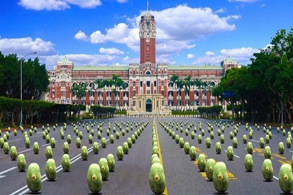 Watermelon-balancing activity to be featured at Dragon Boat Festival celebration. (Taiwan Presidential Office photo)