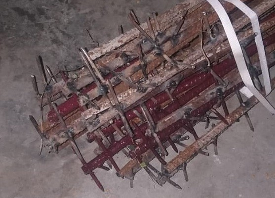 Metal rods seized by Indian soldiers. (Twitter, Ajai Shukla photo)