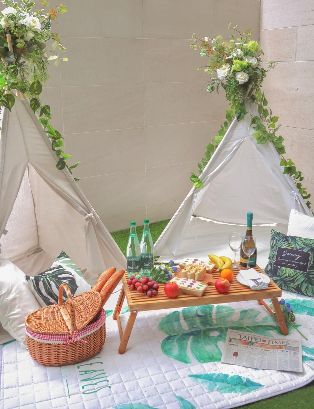 最夯的懶人露營 大溪威斯汀首創奢華SPA野餐主題套房 免搭帳篷輕鬆入住!