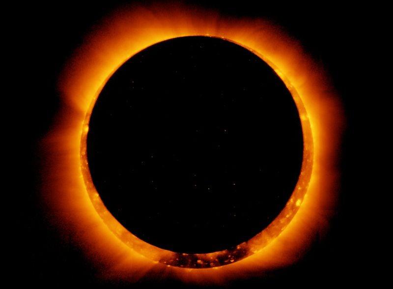 Annular solar eclipse. (NASA photo)