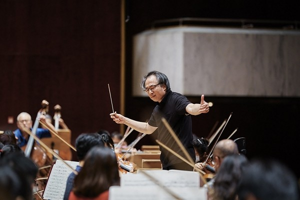 Lu Shao-chia conducts his last NSO concert on Saturday.