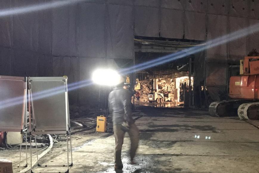 台北京華城工地坍塌意外一名工人遭活埋近8小時尋獲已身亡(圖:中央社)