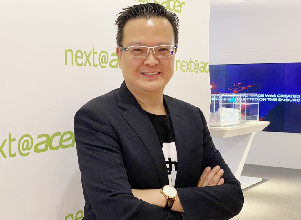 Andrew Hou, Acer president for Pan Asia Pacific Operations