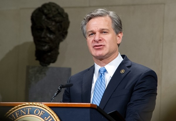 FBI Director Christopher Wray warns of Chinese espionage capabilities. (FBI photo)