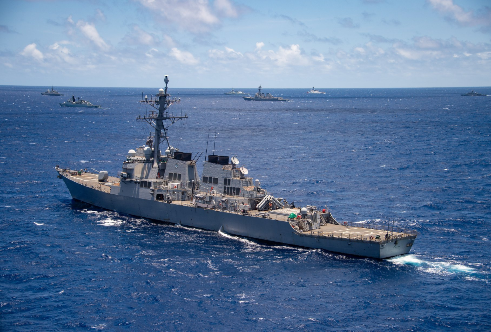 The USS O'Kane during RIMPAC exercises in 2018 near Hawaii.(Facebook, RimofthePacific screenshot)