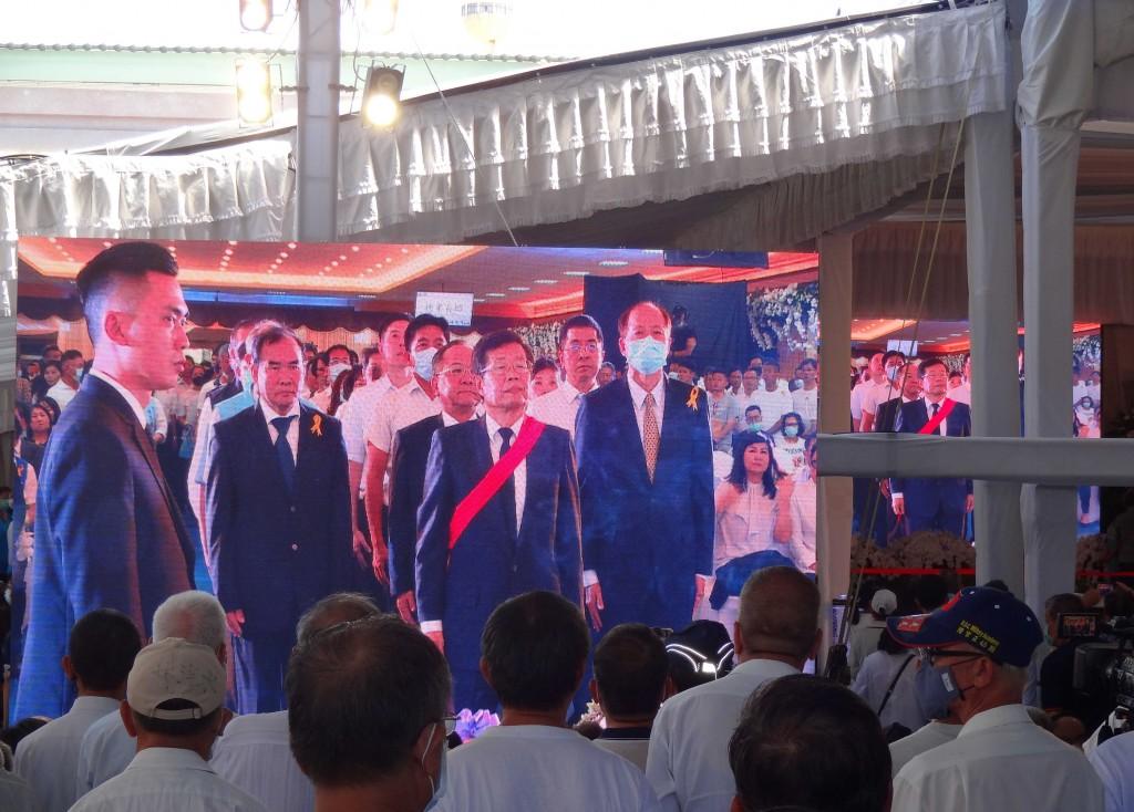高雄市議長許崑源告別式、國民黨覆蓋黨旗 遺孀林絲娛感謝各界關心