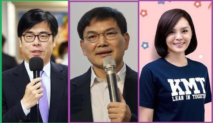 左起依序為陳其邁(民進黨)、吳益政(民眾黨)、李眉蓁(國民黨)