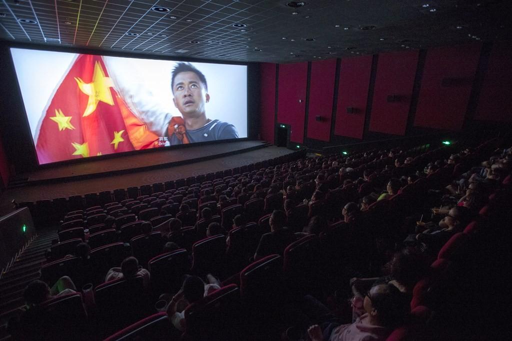 圖為2017年8月「戰狼2」在中國上映。(檔案照片/中新社提供中央社)