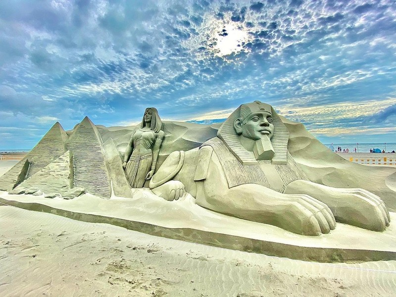 Daan Sand Sculpture and Music Festival in Taichung (Facebook, 賀柏竣 photo)