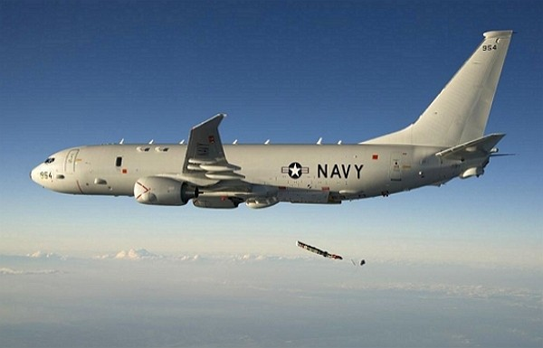 U.S. Navy P-8A Poseidon airplane. (Facebook, U.S. Navy photo)