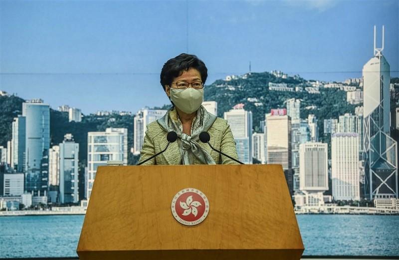 圖為香港行政長官林鄭月娥(中央社)