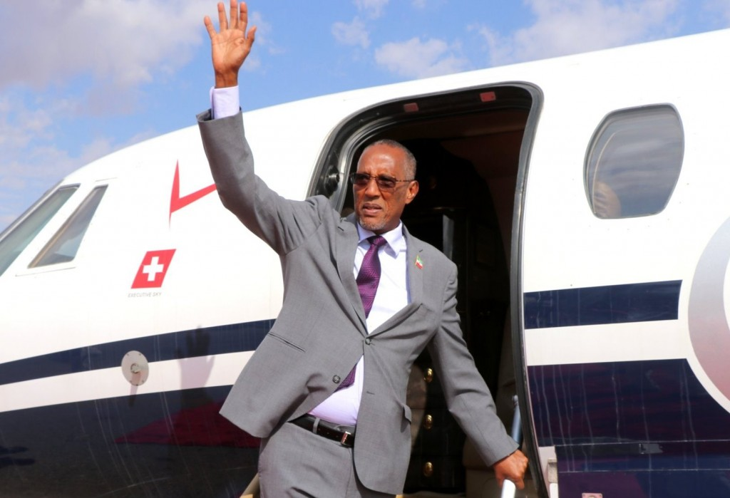 President Muse Bihi Abdi (Twitter, Madaxtooyada JSL photo)