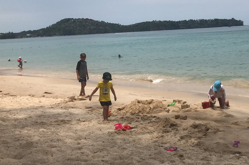 A beach in Phuket in March
