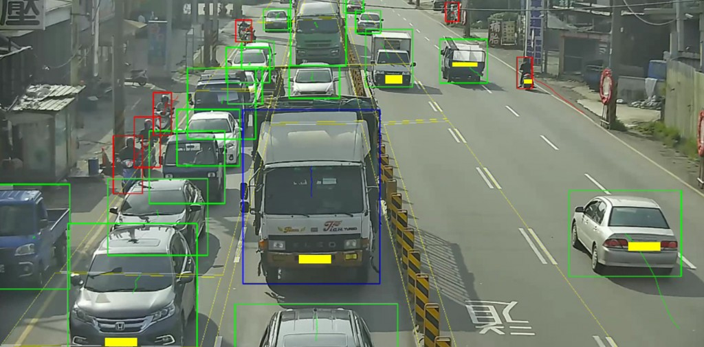 The YOLOv4 system can be use to solve traffic problems (CNA photo courtesy of Academia Sinica)