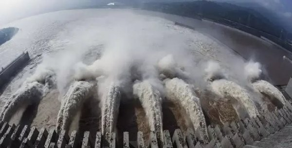Three Gorges Dam. (Weibo photo)