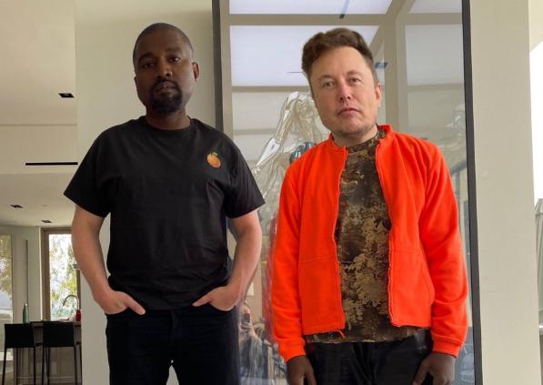 肯伊威斯特(左)宣布參選2020年總統大選獲馬斯克支持(圖/Kanye West Twitter)