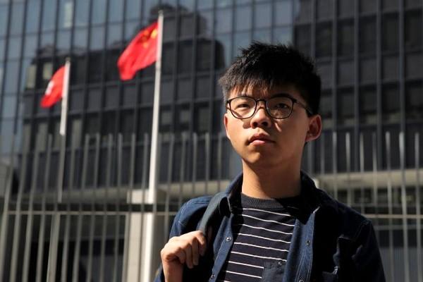 Hong Kong student activist Joshua Wong.