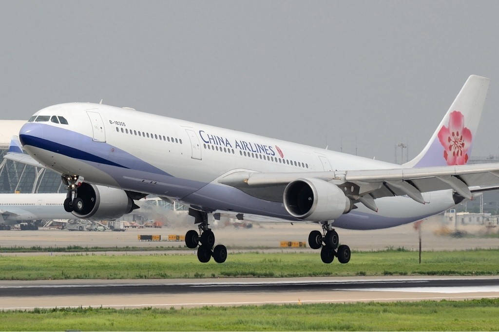 China Airlines aircraft taking off.