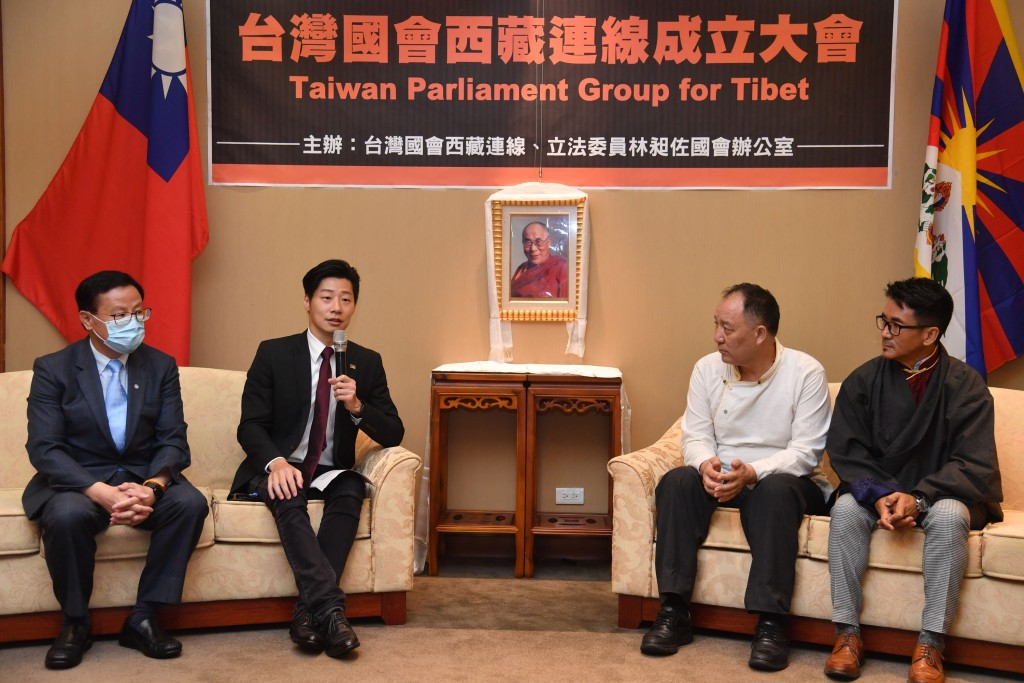 The founding event of the Taiwan Parliament Group for Tibet with legislator Freddy Lim (second from left)