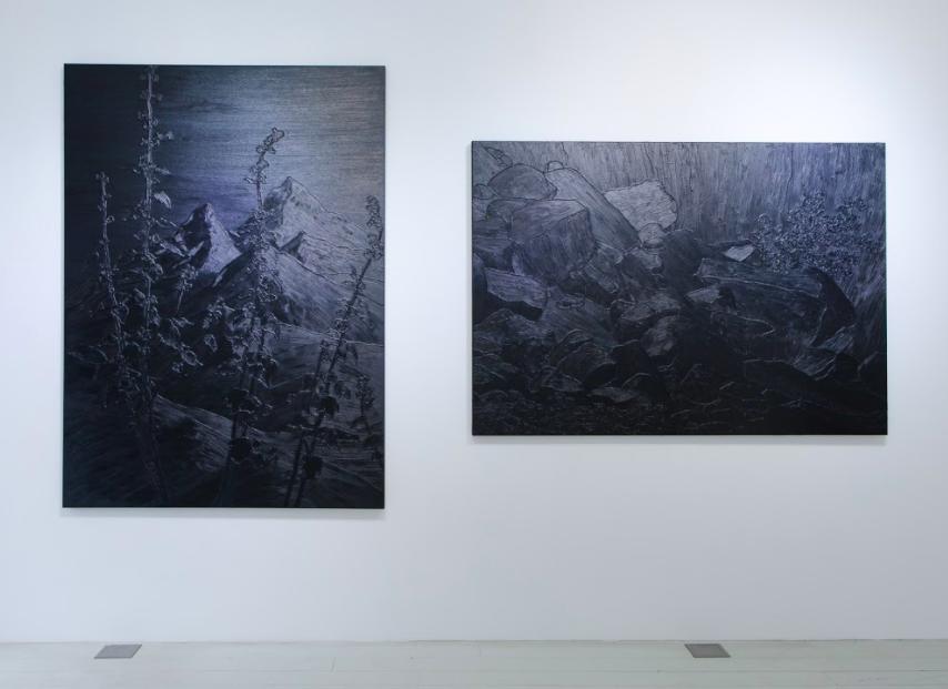 德國鍾情藝術史數學家顛覆傳統取材電玩 純黑風景畫光影流瀉台北登場