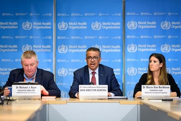 WHO Director-General Tedros Adhanom Ghebreyesus (center).