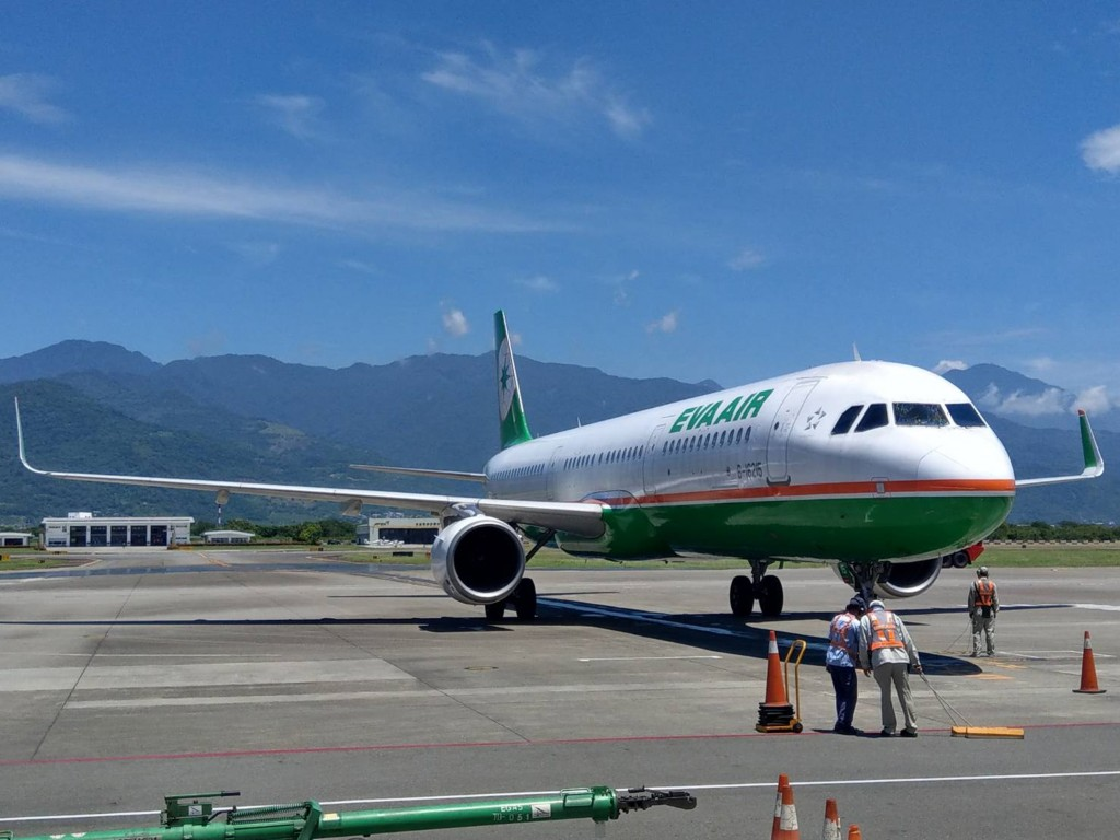 Uni Air flies to Taitung with the Airbus A321.