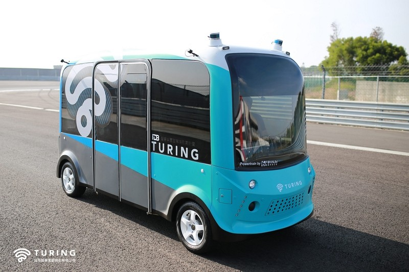 Driverless bus (Turing photo)
