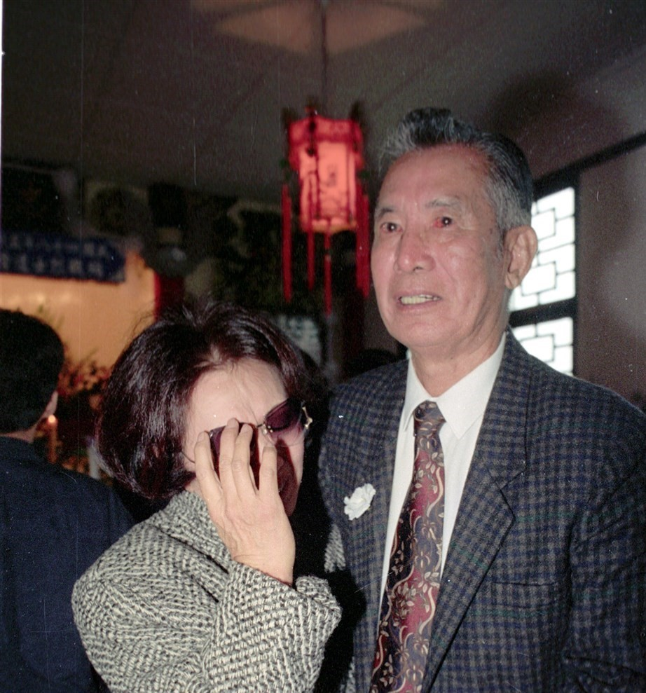 Black Bat Squadron leader Chao Chin attends a ceremony in 1992.