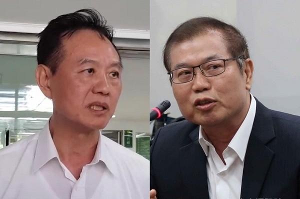 Chou Yew-woei (left) andLee Yong-kuei